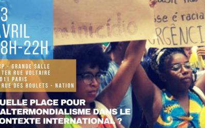 13 avril: Soirée-débat au lendemain du Forum Social Mondial de Salvador de Bahia